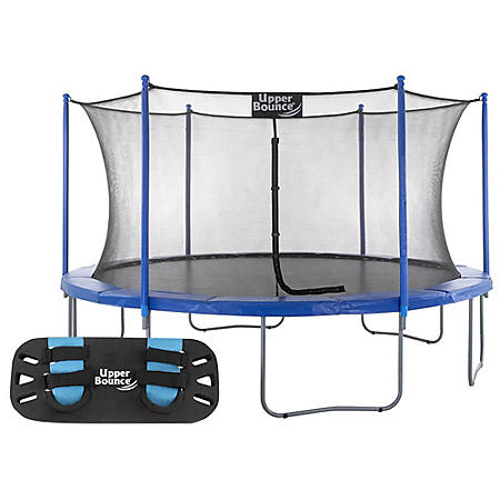 Upper Bounce 16' Round trampoline with Trampoline Jumping Skate