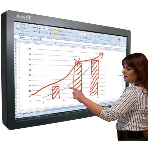 """TouchIT 82"""" LCD Duo Pro Interactive with Integrated PC"""