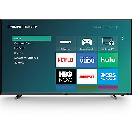 "Philips 50"" Class Roku Smart 4k UHD LED HDTV w/ HDR - 50PFL4864/F7"