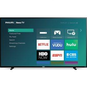 "Philips 65"" Class Roku Smart 4k UHD LED HDTV w/ HDR - 65PFL4864/F7"