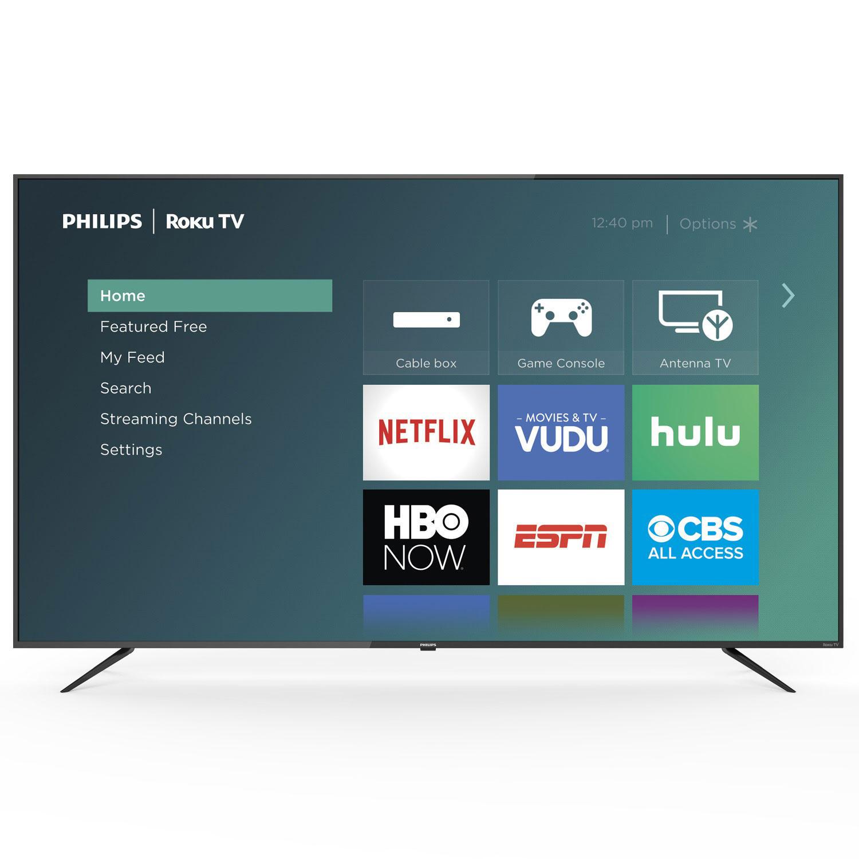 Sam's Club: Philips 75″ Class Roku Smart 4k UHD LED HDTV w/ HDR @ 9.00 + Free Shipping