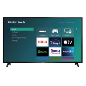 "PHILIPS 50"" Class 4K Ultra HD Roku Smart LED HDTV (50PFL4756/F7)"