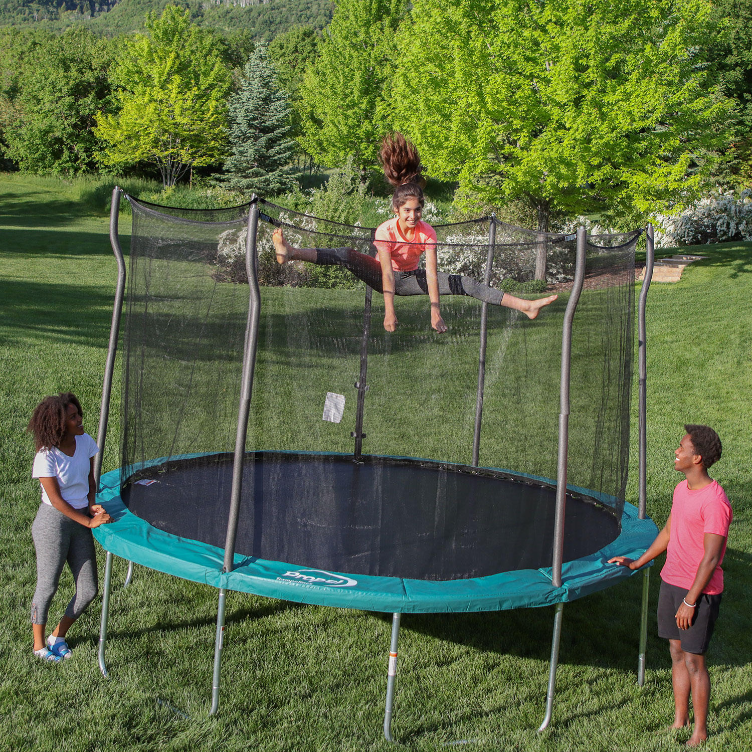 Propel 12′ Round Trampoline With Safety Enclosure