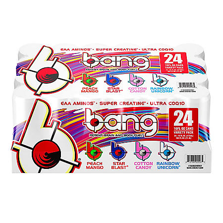 Bang Energy Drink with Super Creatine Variety Pack (16 fl. oz., 24 pk.)