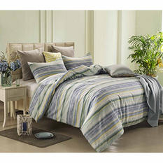 Caribbean Joe Watercolor Stripe 4-Piece Comforter Set