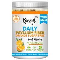 Konsyl Daily Psyllium Fiber, Orange Sugar Free (208 Servings)