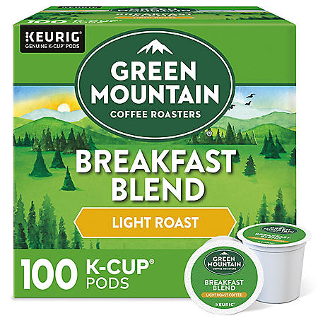 Green Mountain Coffee Breakfast Blend K-Cup Pods (100 ct.)