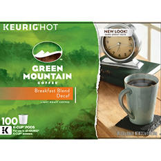 Green Mountain Decaffeinated Coffee, Breakfast Blend (100 K-Cups)