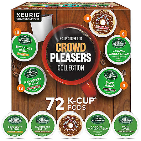 Keurig Crowd Pleasers K-Cup Pod Coffee, Variety Pack (72 ct.)