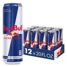 Red Bull Energy Drink, Sugar Free (20 fl. oz., 12 pk.)