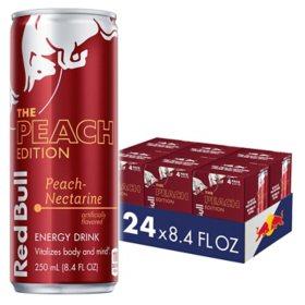 Red Bull Energy Drink, Peach Edition (8.4 fl. oz., 24 pk.)