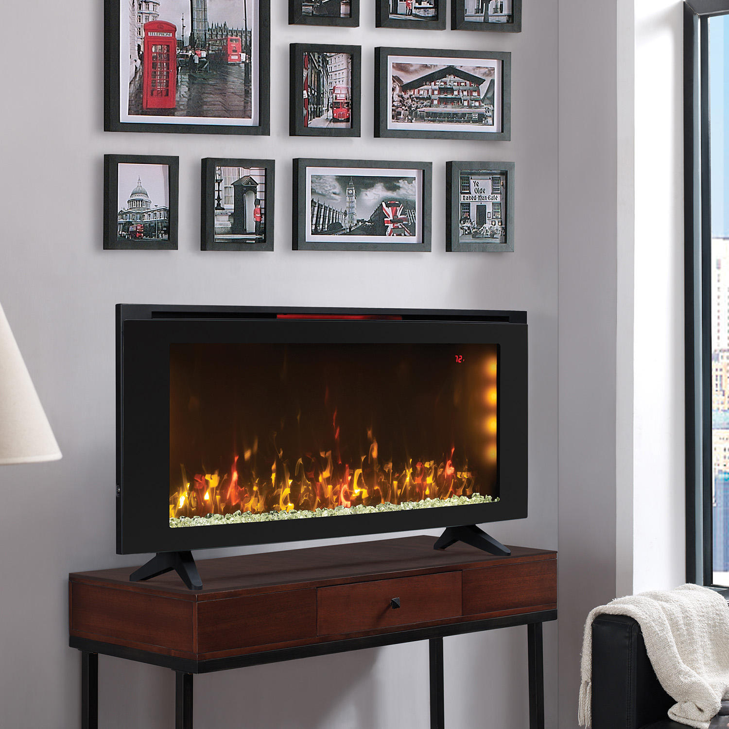 "Classicflame 42"" Wall-Mounted Infrared Electric Fireplace Heater"