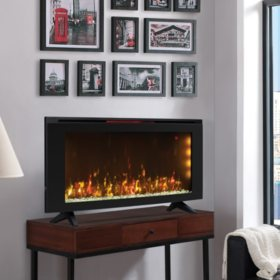 Classicflame 42? Wall-Mounted Infrared Electric Fireplace Heater with Display Stand