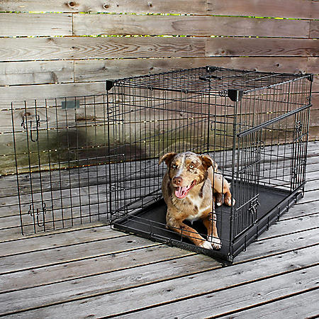 Lucky Dog Sliding Double Door Dog Crate With Removable Tray (Choose Your Size)