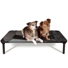 Lucky Dog Elevated Pet Bed, Gray (Choose Your Size)