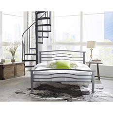 Prescott Silver Decorative Metal Platform Slat Bed