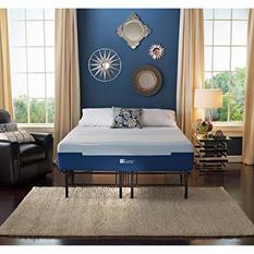 "Lane Sleep Lux 10"" Medium Support Gel Flex Engineered Latex Foam Mattress with Metal Platform Bed Frame Set, King"