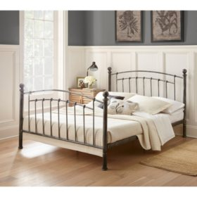 Athena Decorative Metal Bed (Assorted Sizes)