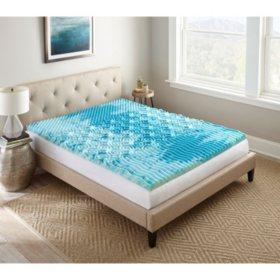 "Henredon 2"" GelLux  Bluewave Foam Topper (Assorted Sizes)"