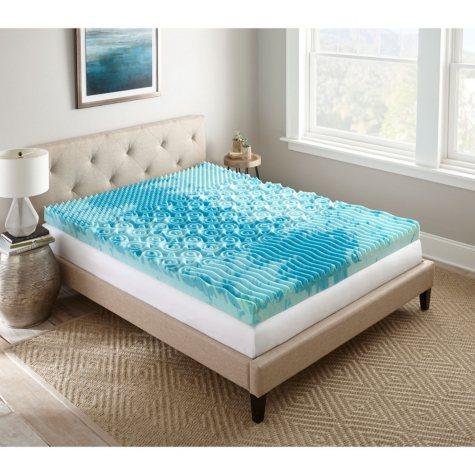 """Lane SleepLux Gel Memory Foam 4"""" Mattress Topper (Assorted Sizes)"""