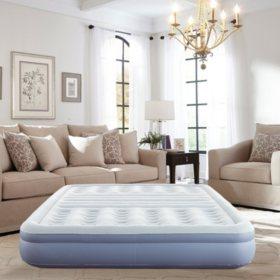 "Thomasville 12"" Lumbar Lift Inflatable Air Bed Mattress with Pump, Queen"