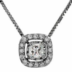 0.27 ct. t.w. Multi-Stone Diamond Pendant in 14K White Gold I,I1 (IGI Appraisal Value: $585)