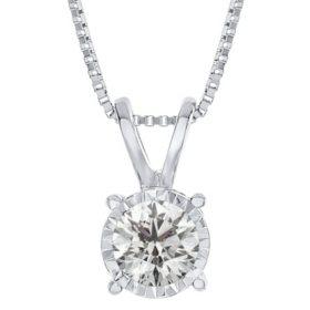 0.15 ct. t.w. Round Diamond Pendant in 14K White Gold (I,I1)