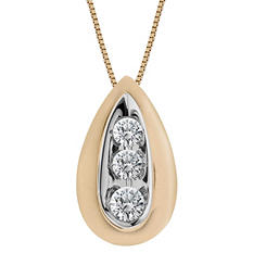 0.28 ct. t.w. Round Diamond Pendant in 14K Yellow Gold I, I1 (IGI Appraisal Value: $725)