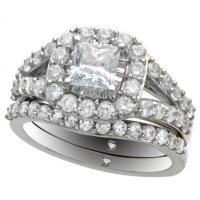 2.00 ct. t.w. Princess Cut Diamond Ring Set in 14K White Gold (I,I1)