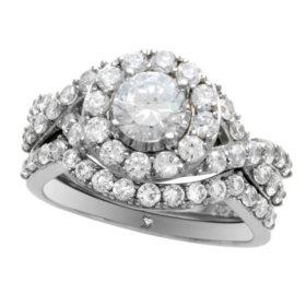 2.00 ct. t.w. Diamond Ring Set in 14K White Gold  (I,I1)