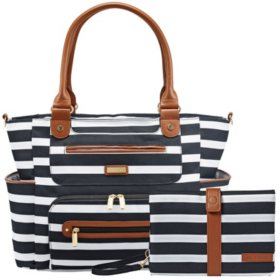 JJ Cole Caprice Diaper Bag with Bonus Matching Changing Clutch (Choose Your Color)
