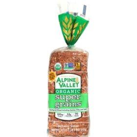 Alpine Valley Organic Super Grains Bread (18oz / 2pk)