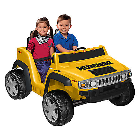 12V 2-Seater Hummer H2 - Yellow