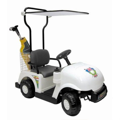 6V Ride-On Golf Cart - White