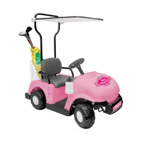 6V Pink Princess Ride-On Golf Cart