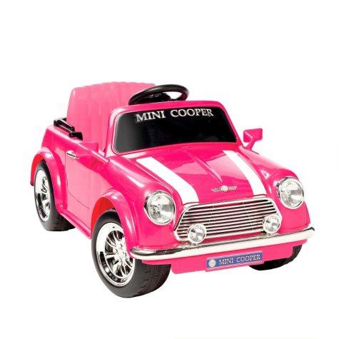 6V Mini Cooper Ride-On - Pink