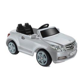 6V 1-Seater Mercedes Benz E550 - Silver