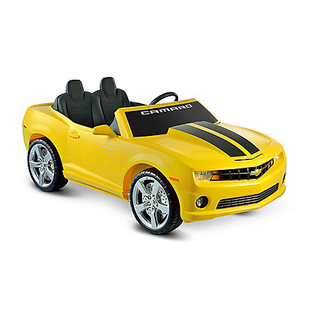 5eaf1480df5 12V Chevrolet Racing Camaro Two Seater in Yellow - Sam s Club