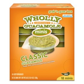 Wholly Guacamole Minis (2 oz. ea., 18 pk.)