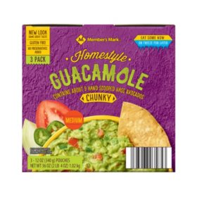 Member's Mark Homestyle Chunky Guacamole (3 pouches)