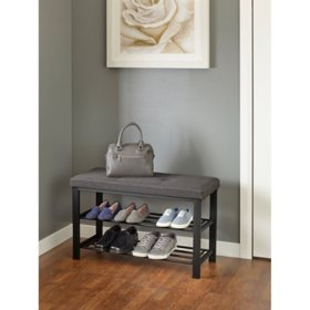 neatfreak Fabric Upholstered Shoe Storage Bench