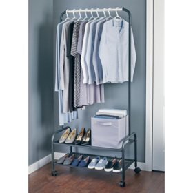 neatfreak Heavy-Duty Steel Garment Rack with Shelves