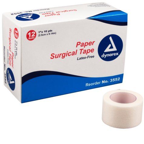 """Dynarex Paper Surgical Tape - 144 ct. - 1"""""""