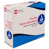 """Dynarex Flexible Sterile Bandage, 3/4"""" x  3"""""""