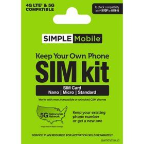 Simple Mobile Sim Kit