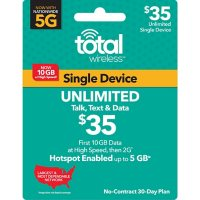 Total Wireless $35 Plan Plus Hotspot (10GB at High Speeds†*) (Email Delivery)