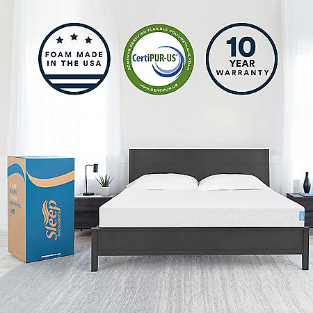 "Sleep Innovations 8"" Gel Memory Foam King Mattress"