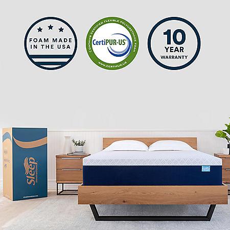 """Sleep Innovations 14"""" Memory Foam Queen Mattress"""