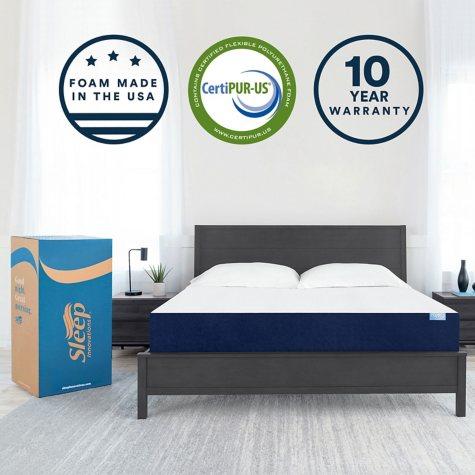"Sleep Innovations Marley 10"" Gel Memory Foam King Mattress"