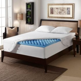 "Serta 3"" Gel Memory Foam Airflow Topper (Assorted Sizes)"